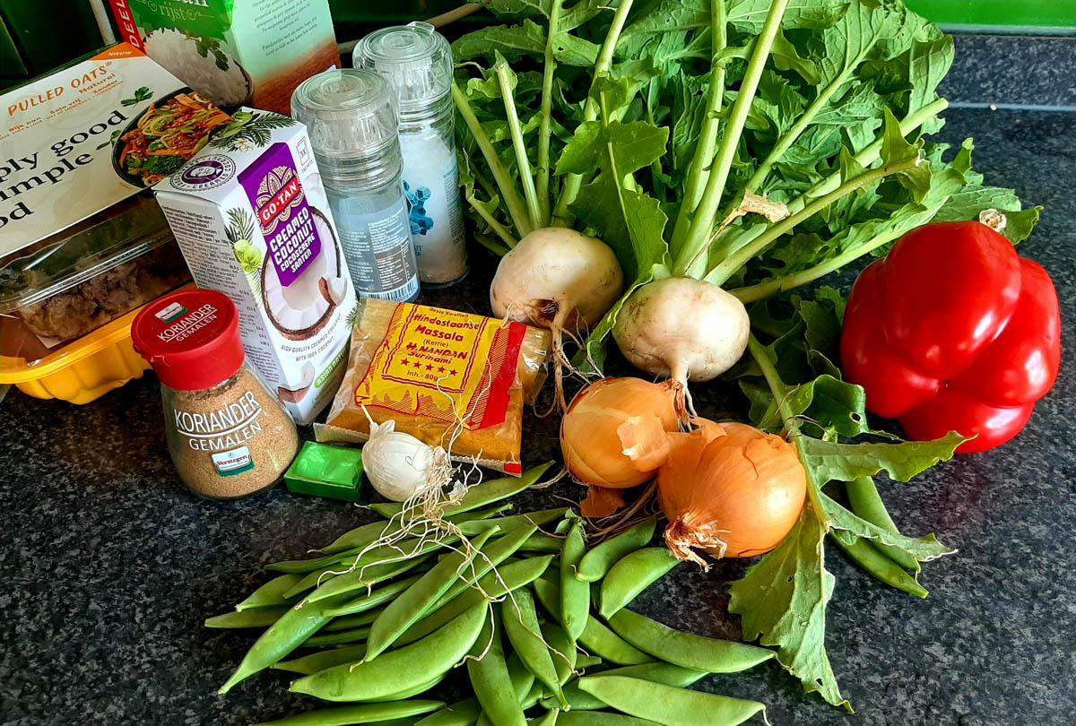 Ingrediënten voor de curry