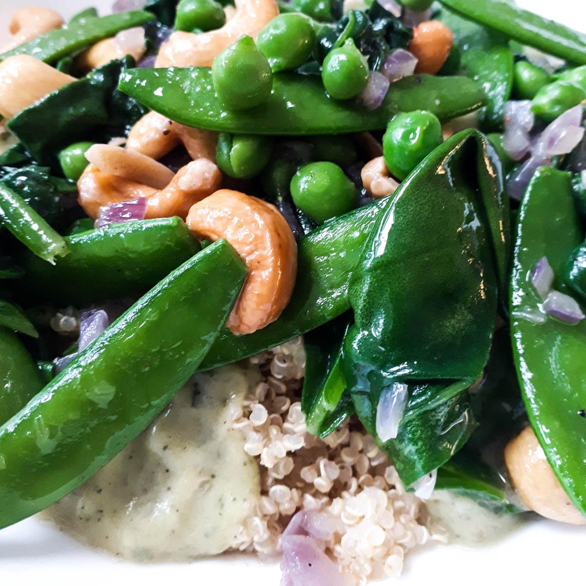 Quinoa salade met groene groentes