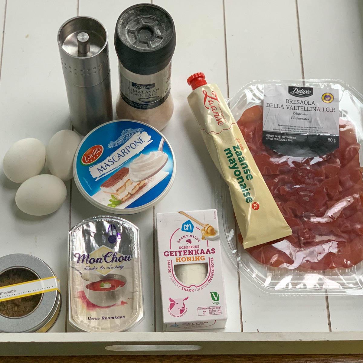 Overige ingrediënten voor groente rolletjes uit de Makkelijke Moestuin