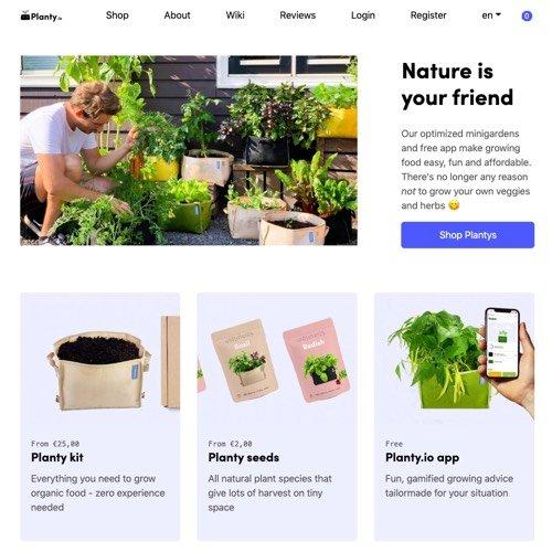 Site van Planty.io