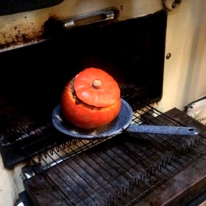 Gevulde Makkelijke Moestuin pompoen uit de oven