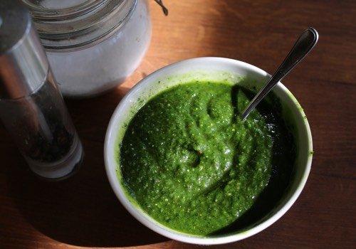 Pesto van palmkool