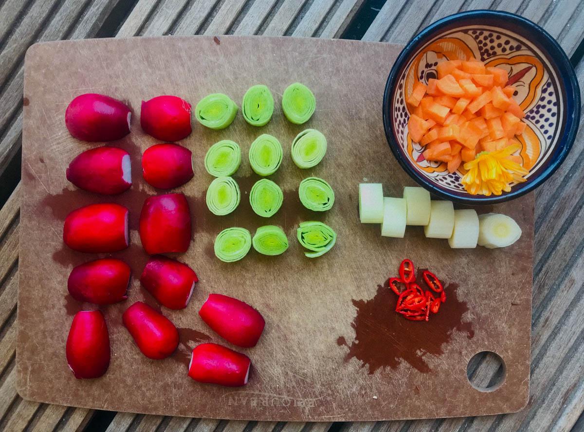 Was en snij de groentes