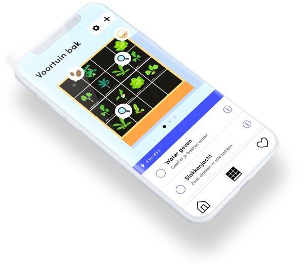 De Makkelijke Moestuin app geeft simpele instructies over hoe je voor je groente zorgt