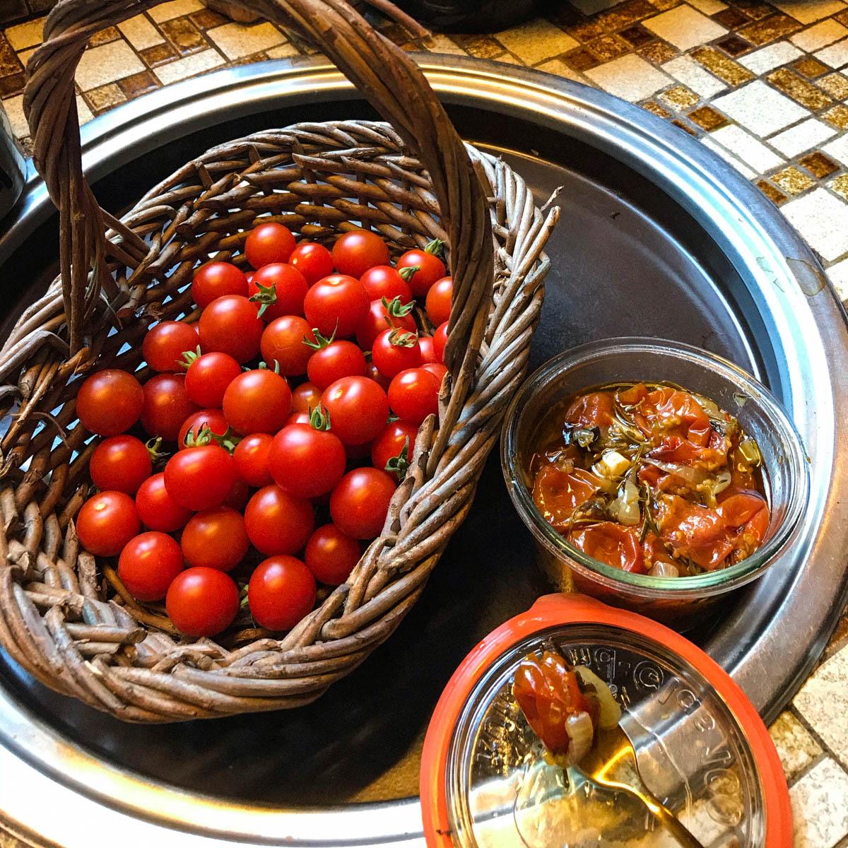Ingemaakte tomaatjes van de Makkelijke Moestuin